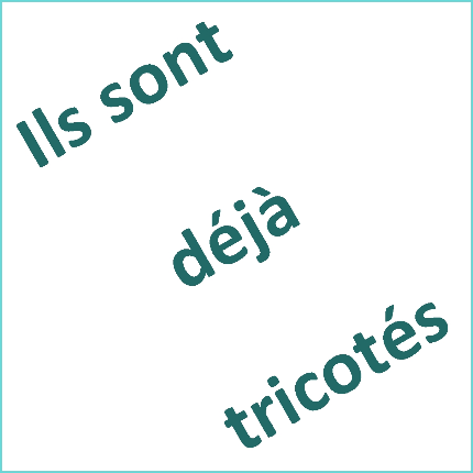 TRICOTS POUPONS DISPONIBLES